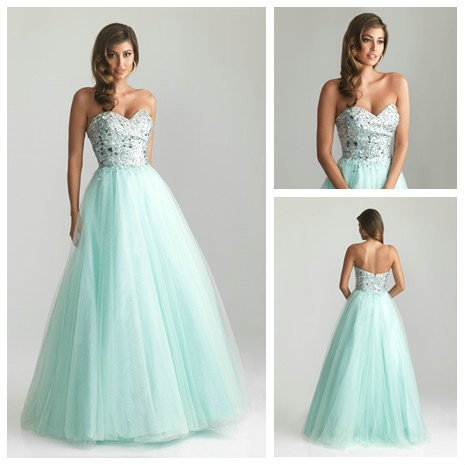 16bb28abf Youthful and Exuberant Design A line Tulle Long Prom Dress 2013 Blue ...