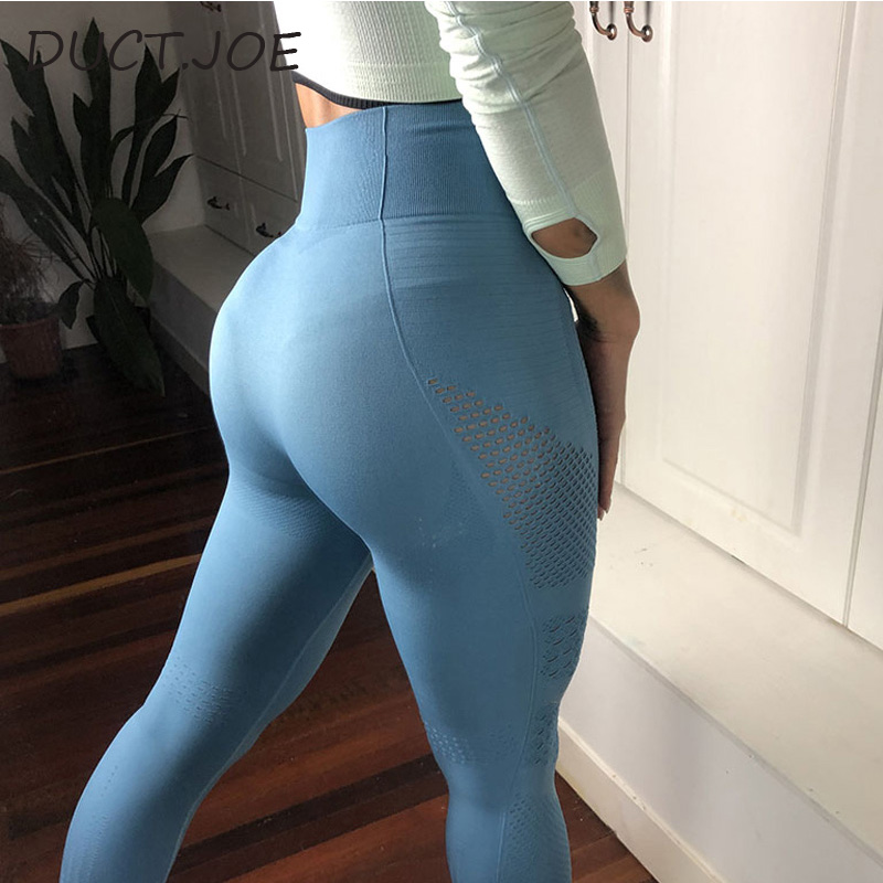 DUCTJOE New Leggings For Women Vital Seamless Leggins Gym Women Sportswear Leggins Female  Pants Eyelet Knit Active Wear Legging