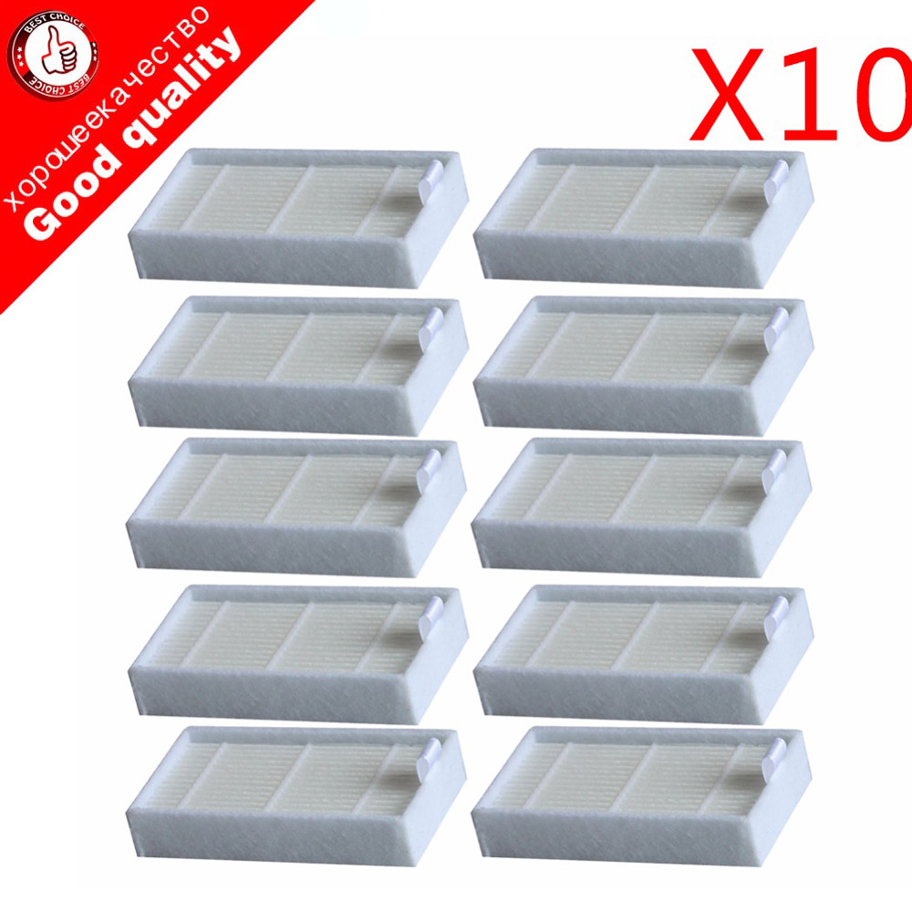 10pc Vacuum Cleaner Filters HEPA Filter for CHUWI V3 iLife X5 V5 V3+ V5PRO ECOVACS CR130 cr120 CEN540 CEN250 ML009 Cleaner Parts(China)