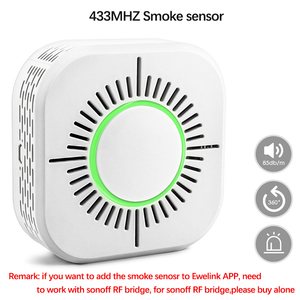 Image 2 - 3Pcs Smoke Detector Wireless 433MHz Fire Security Protection Alarm Sensor for Smart Home Automation, Work with Ewelink APP