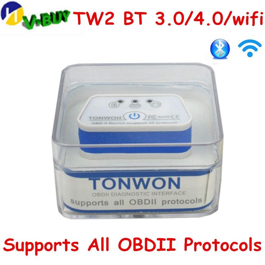 Tonwon TW2 BT 3,0/4,0/wifi OBD2 Code Scanner obd Auto Diagnose Werkzeug Scanner Überprüfen Fahrzeug Motor Gerät vgate ELM327