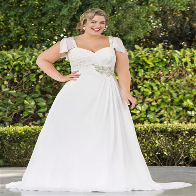 2016 Plus Size Wedding Dresses Short Sleeve Crystal Latest