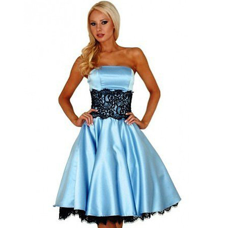 Popular Light Blue and Black Prom Dresses-Buy Cheap Light Blue and ...
