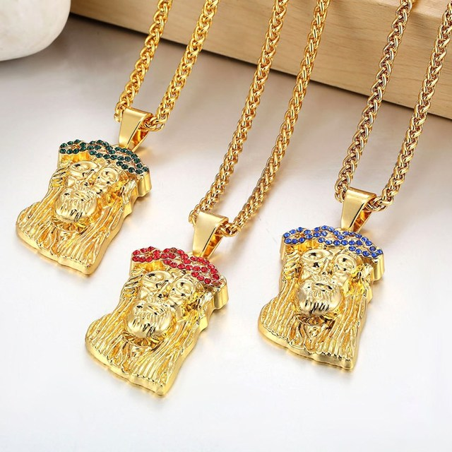 piece grande kingice yellow jesus products necklace the cz gold king ice pendants bebb