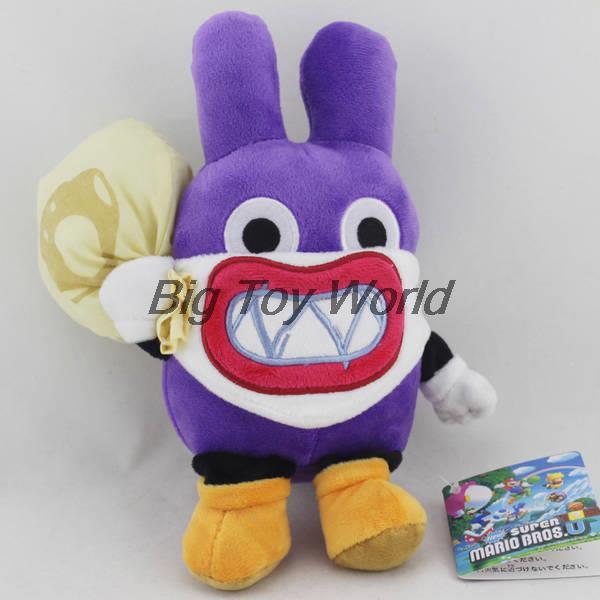 New Super Mario Bros Nabbit Purple Rabbit Thief 9/'/' Plush Toy Stuffed Animal
