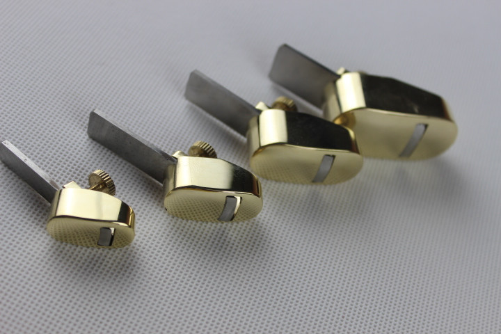 4 PCs Quality Brass Mini Plane Luthier Tools For Violin Viola Cello Convex Plane