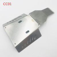 1PC Stainless Steel Chassis Guard Armor Fender Apron Guard Board Shield CC01 for RC Tamiya Car Model DIY Spare Parts