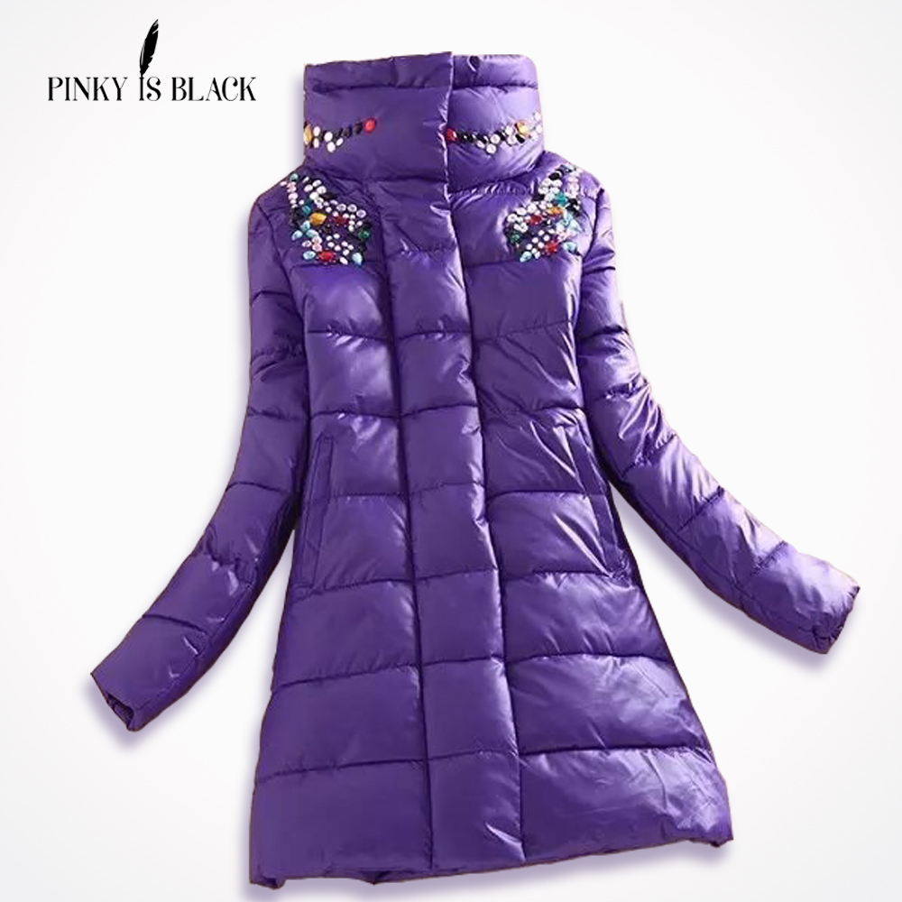 PinkyIsBlack 2019 winter coat women medium-long coat   parkas   female outerwear women hooded down cotton-padded winter jacket women