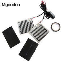 Mgoodoo 12V Universal Motorcycle Heated Grip Pads Warmer Kit Insert Handlebar Hand Heater ATV Motorbike Scooter Warm