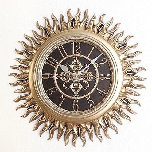 Tuda2017 часы домашнего интерьера lishengchao Роскошные Европейский стиль ретро часы круглые солнцезащитные часы Тихий большой декоративные