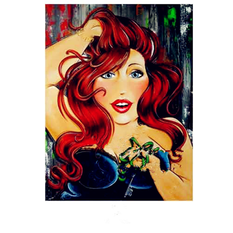 30*40センチメートルファッション女性ラウンドダイヤモンド刺繍セット脂肪女性diy絵画ヨーロッパ