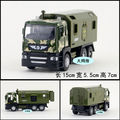 Gift for baby 1pc 15cm army military truck vehicle engineering van car Acousto-optic plastic alloy model decoration boy toy