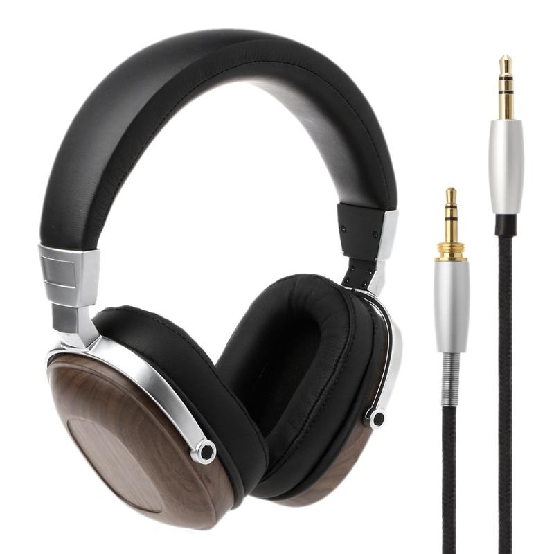 B8 Stereo Wooden Over-ear Black Mahogany Earphone Headphone Headset цена и фото