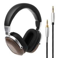 B8 Stereo Wooden Over ear Black Mahogany Earphone Headphone Headset