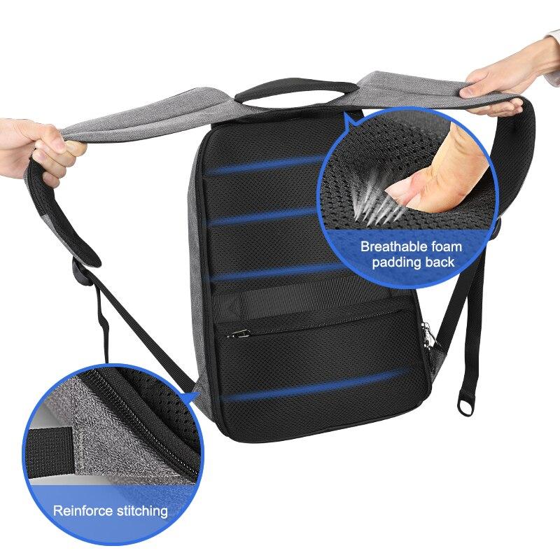 Tigernu nouveau Anti-vol USB chargeur sac à dos ordinateur portable étanche voyage sac à dos homme sac à dos décontracté pour homme - 3