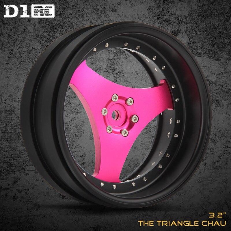 4PCS D1RC Hotselling Triangle Aluminium 3 2 inch Beadlock Wheel Rims For Traxxas TRX 4 TRX4
