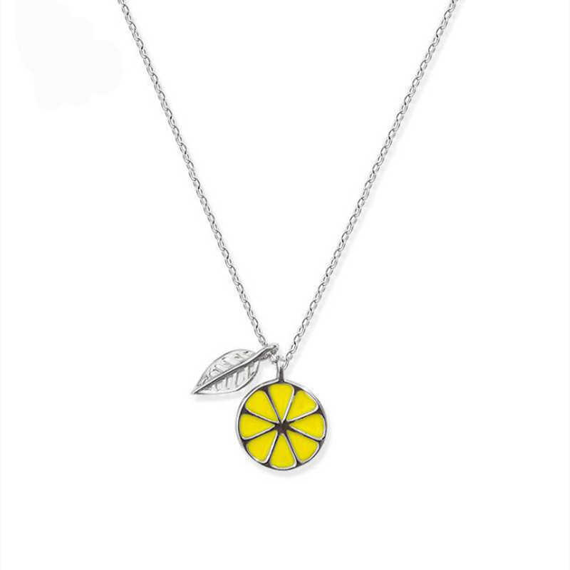 XIYANIKE New products 925 Sterling Silver Personality Pendant Sweet Lemon Short Clavicle Chain For Women Gift PromotionsVNS8419