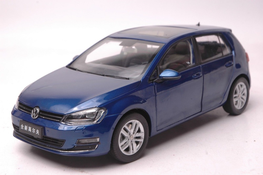 1 18 Diecast Model For Volkswagen Vw Golf 7 Blue Alloy Toy