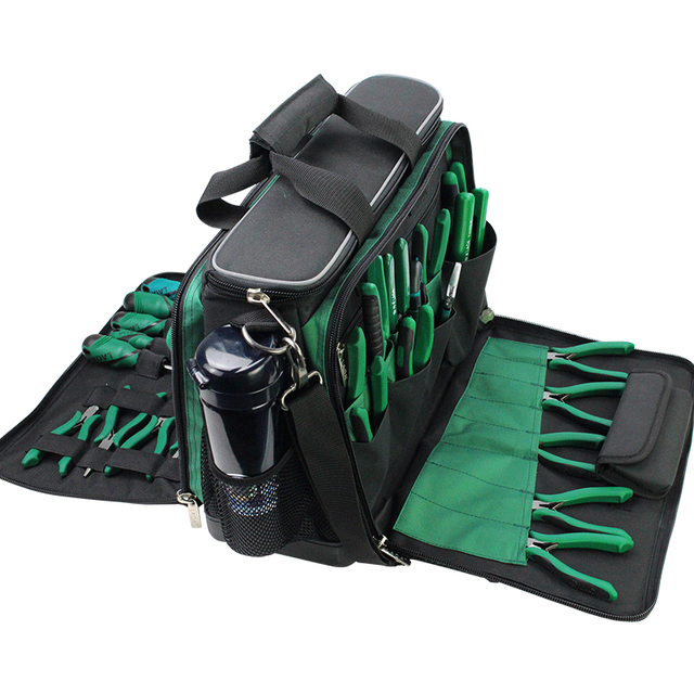 LAOA Multi function Tool Kit Maintenance Bag After sales Shoulder bag large thick canvas Oxford cloth electrical bags