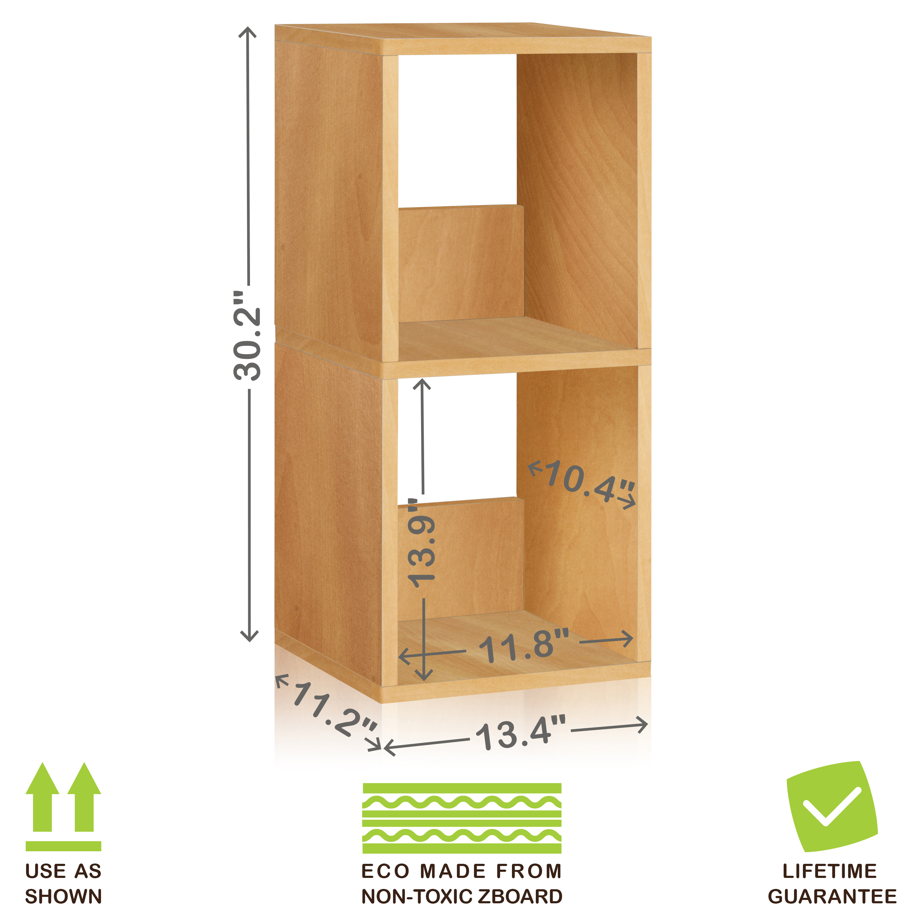 Us 41 24 Eco 2 Shelf Duo Narrow Bookcase And Storage Shelf Natural Wood Grain Tool Free Assembly Lifetime Warranty In Bookcases From Furniture On