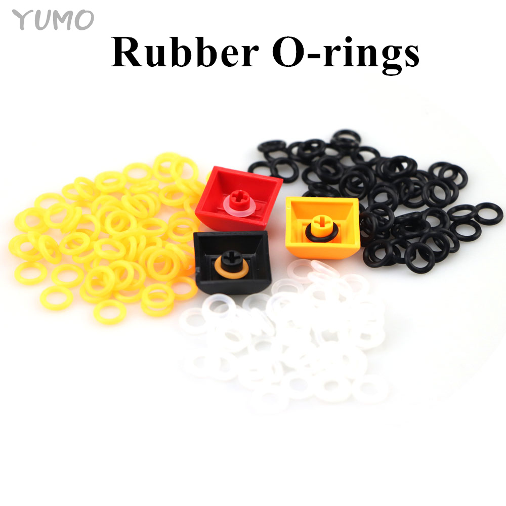 Cherry MX Rubber O-Rings 140Pcs Switch Dampeners Dark Black Clear Orange Cherry MX Keyboard Dampers Keycap O Ring Replace Part