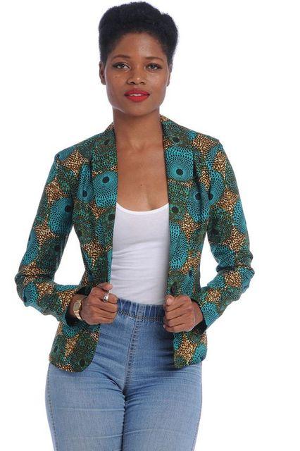 Новый классический стиль 2016 Африканских женщин традиционным цветочным принтом пальто воск печати чернила печати MS отдых пальто куртки
