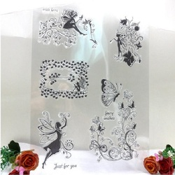 Angel and flowers stamps silicone clear transpart stamps decor for dairy album photo scrapbooking stamping stickers.jpg 250x250