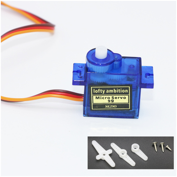 10pcs/lot lofty ambition SG90 9g Mini Micro Servo for RC for RC 250 450 Helicopter Airplane Car Drop Free Shippping 1