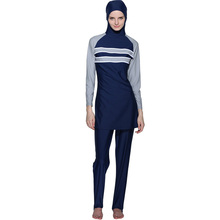 High Quality New Muslim Sunscreen Swimwear with Hooded Islamic Ladies Swimsuits Arab Islam Middle East Beach Wear Clothes