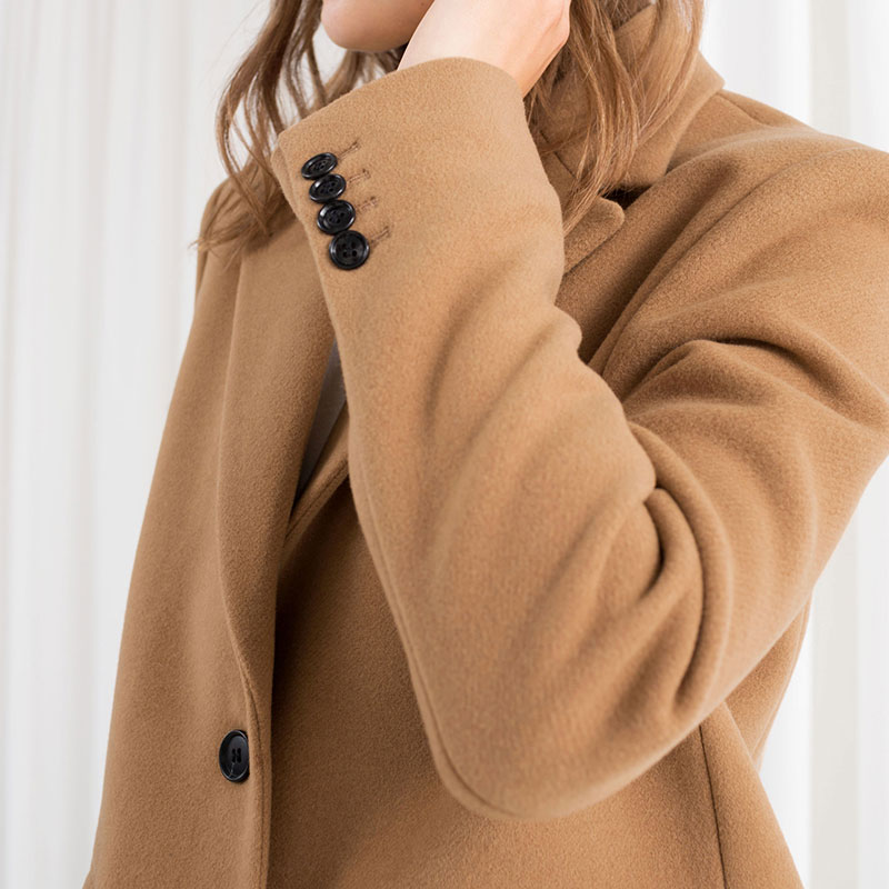 Poitrine Manches Mélange Hiver xitao Poche Unique De Collar Khaki Lyh1664 Couleur down Mode Pleine 2018 Femmes Turn Solide Casual Corée TOqWwg8T