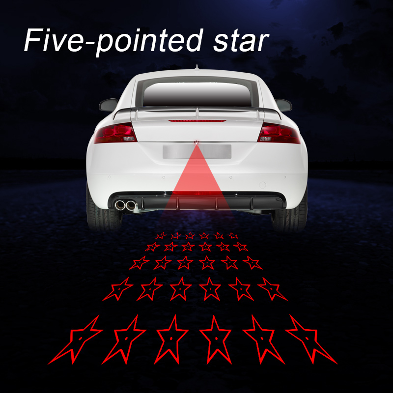 Laser taillight for motorcycle auto lantern accessories decorative rear fog lamp warning light LED laser fog light 12V 1 x motorcycle taillight 12v laser lights change pedal decorative lamp safety warning cross word laser