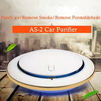 New AS 2 Car Air Purifier Mini Portable Anion Car Purifier USB Night Light Aromatherapy Air Cleaner Remove Formaldehyde