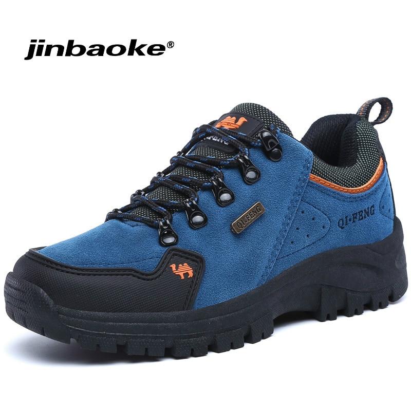 JNBAIKE Outdoor Men Hiking Shoes Women Waterproof Trekking Boots Breathable Sports Mountain Climbing Shoe Walking Sneakers Male цена