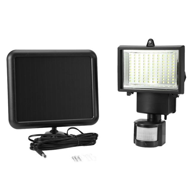 100 LED Solar Light Outdoor Sensor Security Garden Light PIR Motion Sensor Emergency Lamp Path Wall Solar Lamps