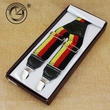 Hot Selling The German National Flag Color  Men Suspenders