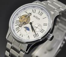 Пять игла двусторонняя полым из veyron звезды стальной ленты автоматические механические часы Древний Римский слово мужская часы