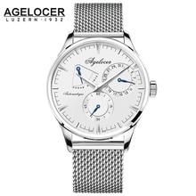 AGELOCER Mens Watches Top Brand Luxury Watch Men Business Special Design wristwatches Sport Watches Relogio Masculino