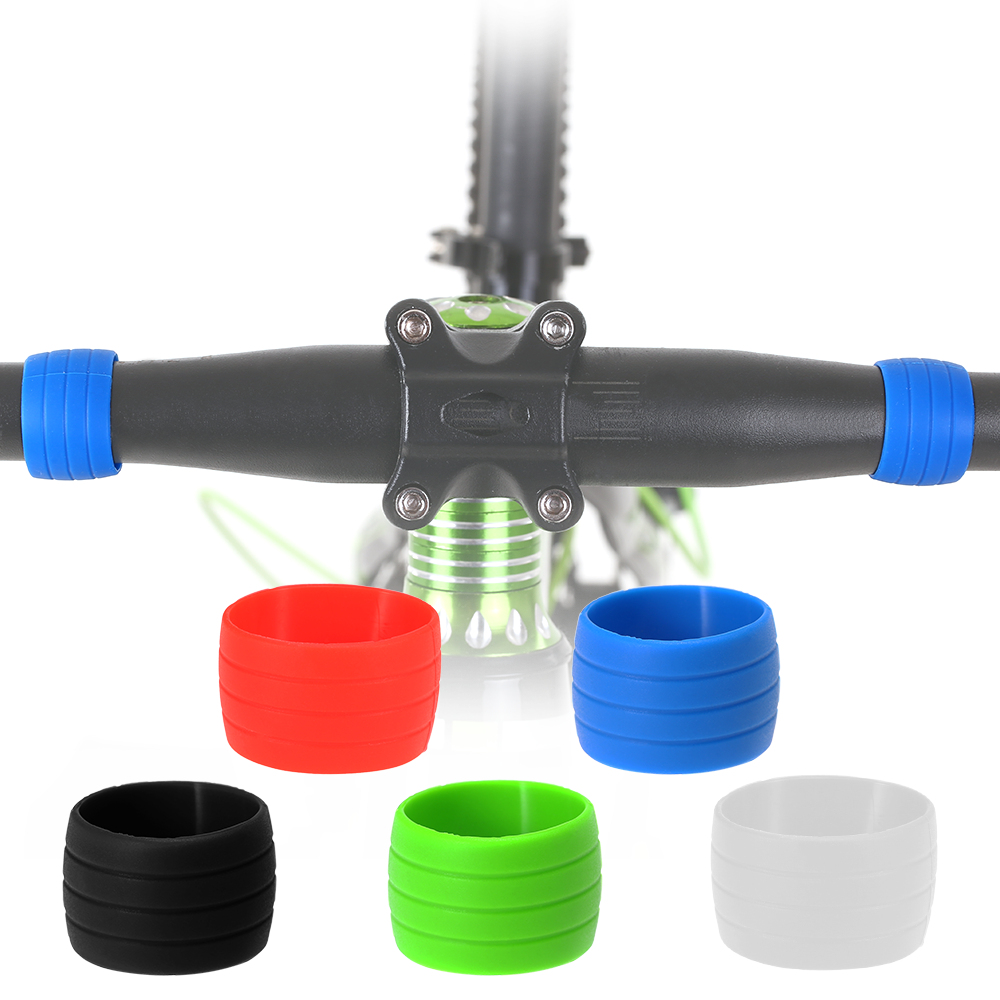 6Pack Silicone Fixing Sleeve Collar for Cycling Bike Bicycle Handlebar Tape Wrap