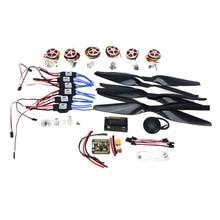 RC Aviones HexaCopter ARF Electrónico: Control de Vuelo GPS APM2.8 F05423-I FMT40A ESC motor Sin Escobillas 350kv