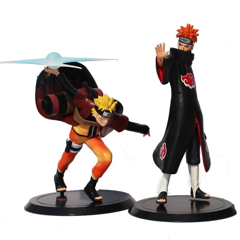 2gab. 16 / 18cm Naruto rotaļlietas lelles PVC Rīcības figūra Anime kolekcijas figūriņas Modelis Naruto Sasuke Uchiha juguetes rotaļlieta Kids Xmas Rotaļlietas