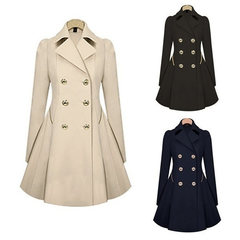 ZOGAA 2019 New Women Trench Coat Autumn Women Double Breasted Warm Windbreaker Causal Long Ladies Trench Coat Female Plus Size