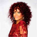 Rihanna Hairstyle Synthetic Hair Wig Peluca Charming American Curly Winr Red Medium Long Wigs For Black Women