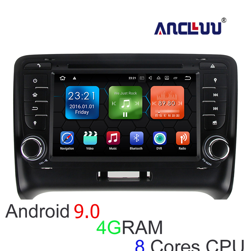 Android 8.0 4G RAM lecteur DVD de voiture pour Audi TT 2007 2008 2009 2010 2011 2012 2013 2014 autoradio gps navigation headunit 8 cœurs
