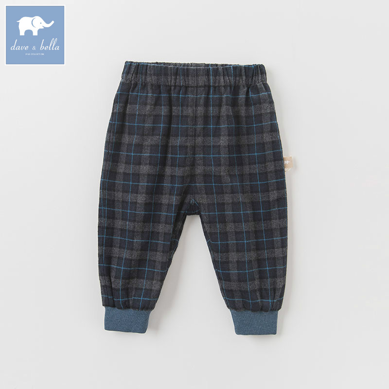 DB6163 dave bella autumn infant baby boys full length fashion pants children toddler plaid pants boys trousers db5612 dave bella winter baby boys full length kids fashion plaid pants children trousers
