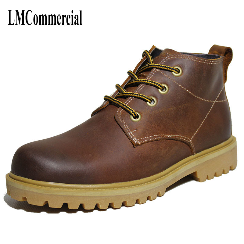 Martin Chelsea British male high boots leather men's shoes and boots retro cashmere warm desert cowhide autumn winter British autumn and winter with warm cashmere leather boots british retro men shoes martin head layer cowhide shoes boots breathable