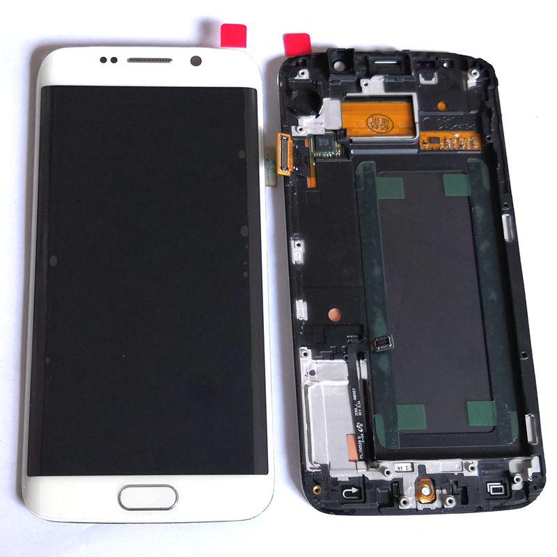 S6 край ЖК-для Samsung Galaxy S6 edge g925 G925F ЖК Экран Дисплей + Touch Стекло планшета каркасные ремонт Amoled
