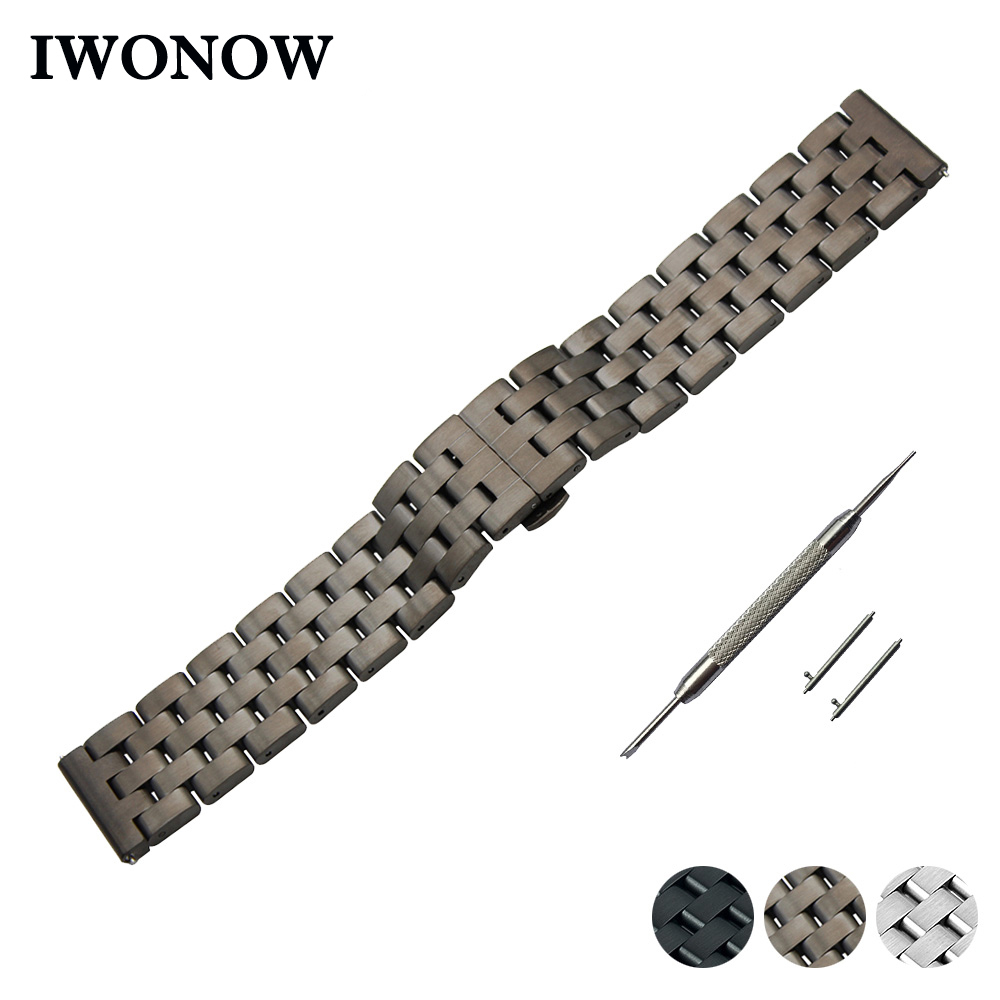 Stainless Steel Quick Release Watch Band 22mm for Asus ZenWatch 1 2 Men WI500Q WI501Q Strap Wrist Belt Bracelet + Spring Bar цена