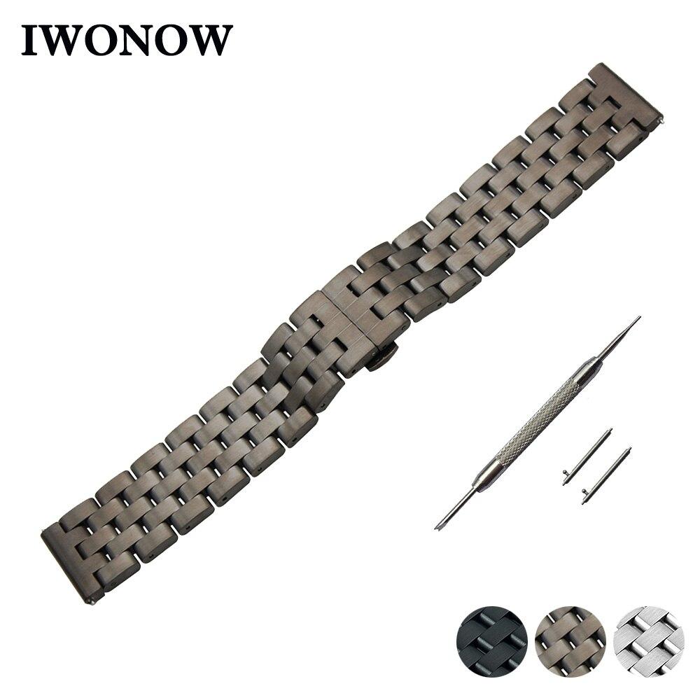 Stainless Steel Quick Release Watch Band 22mm for Asus ZenWatch 1 2 Men WI500Q WI501Q Strap Wrist Belt Bracelet + Spring Bar все цены
