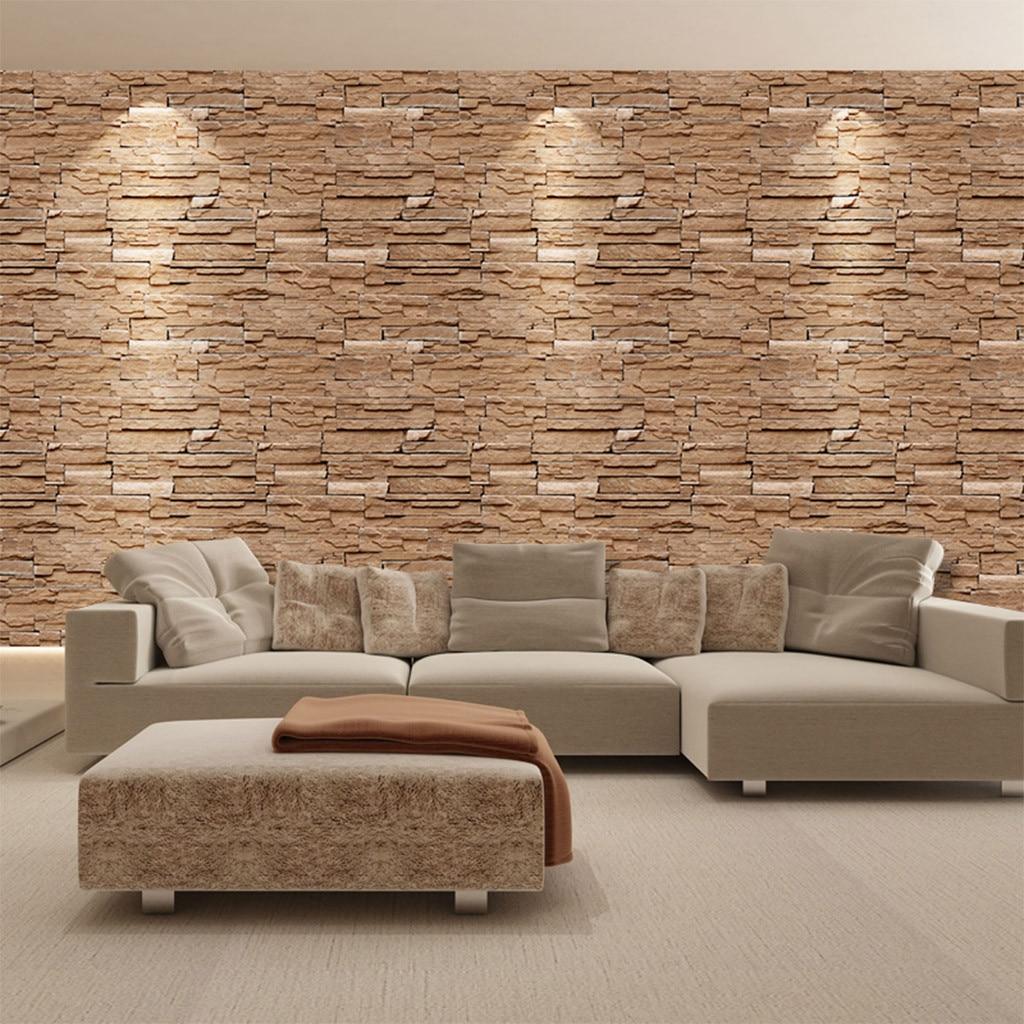 PE Foam 3D Stone Brick Panel Wall Sticker 45x100cm Home