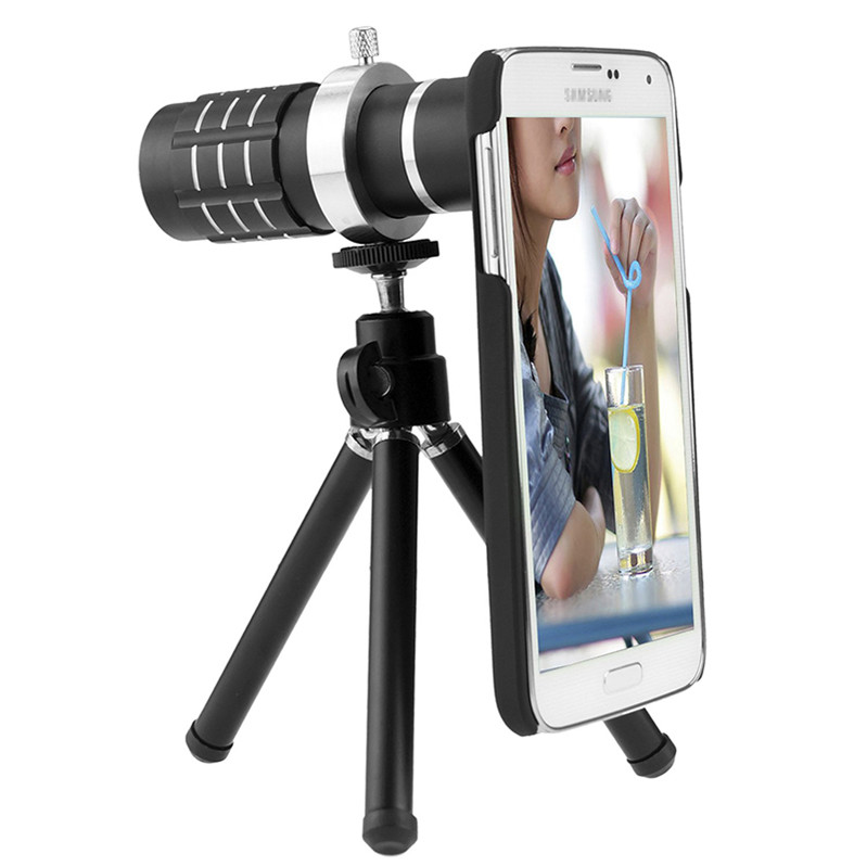 Camera Photo Kit-12x Telephoto Lens+Accessories+Fisheye Lens+2 in 1 Macro Wide Angle Lens For Samsung Galaxy S5 Neo S6 S7 Edge PLUS D